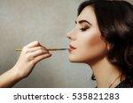 makeup artist | Shutterstock . vector #535821283