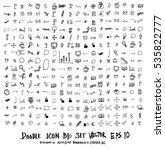 mega set of doodles. super... | Shutterstock .eps vector #535822777