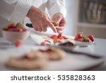 kitchen preparation  a chef... | Shutterstock . vector #535828363