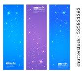 vector background of glowing... | Shutterstock .eps vector #535831363