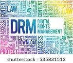 drm   digital rights management ... | Shutterstock .eps vector #535831513