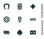 set of 9 editable casino icons. ...