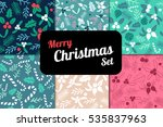 vintage merry christmas and... | Shutterstock .eps vector #535837963