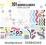 mega set of memphis design... | Shutterstock .eps vector #535842343