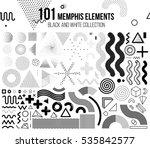 Mega set of memphis design elements | Shutterstock vector #535842577