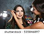 professional makeup artist... | Shutterstock . vector #535846897