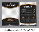 design flyers black with orange ... | Shutterstock .eps vector #535861267