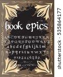 script  font  typeface  book... | Shutterstock .eps vector #535864177