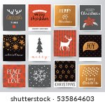 merry christmas illustration... | Shutterstock .eps vector #535864603