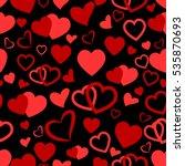 heart love seamless pattern... | Shutterstock .eps vector #535870693