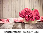 Flowers. Bouquet Of Red Roses...