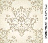 vector illustration. damask... | Shutterstock .eps vector #535890463