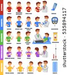 infographic poster with... | Shutterstock .eps vector #535894117