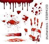 blood spatters realistic... | Shutterstock .eps vector #535894153