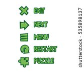 set of menu buttons for game...