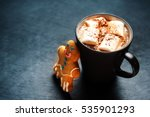 hot cocoa with marshmallows and ... | Shutterstock . vector #535901293