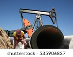 oil pipeline construction site  ... | Shutterstock . vector #535906837