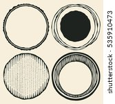 circle grunge halftone drawing... | Shutterstock .eps vector #535910473