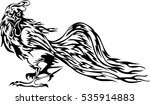 vector rooster tattoo | Shutterstock .eps vector #535914883