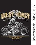 vintage motorcycle skeleton... | Shutterstock .eps vector #535924177