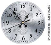 time is money modern clock face ... | Shutterstock . vector #535940287