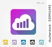 colored icon of cloud symbol... | Shutterstock .eps vector #535941493