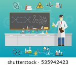 chemical laboratory science and ...   Shutterstock . vector #535942423