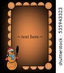 orange frame with basketball...   Shutterstock .eps vector #535943323