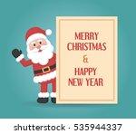 santa claus cartoon character...   Shutterstock .eps vector #535944337