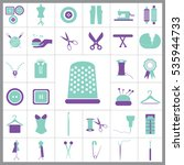 set of tailor icons. contains... | Shutterstock .eps vector #535944733