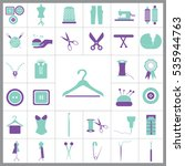set of tailor icons. contains... | Shutterstock .eps vector #535944763