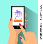 e commerce online shopping web... | Shutterstock .eps vector #535949227