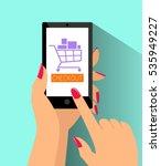 e commerce online shopping web...   Shutterstock .eps vector #535949227