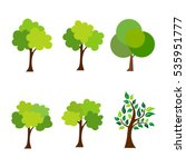 set of trees icon vector... | Shutterstock .eps vector #535951777