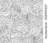 tracery seamless calming... | Shutterstock .eps vector #535954327