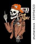 dancer skeleton and dark night... | Shutterstock .eps vector #535956523