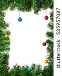 artificial christmas tree with... | Shutterstock . vector #535957087