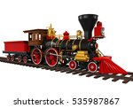 old locomotive train. 3d... | Shutterstock . vector #535987867