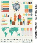 travel and tourism. infographic ... | Shutterstock .eps vector #535989133