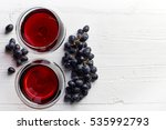 two glasses of red wine and... | Shutterstock . vector #535992793