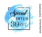 special offer sale 30  off sign ... | Shutterstock .eps vector #535993993