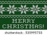 christmas card. knitted texture ...   Shutterstock . vector #535995733