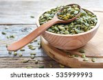 Bowl With Pumpkin Seeds And...