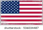 grunge usa flag.vector american ... | Shutterstock .eps vector #536034487
