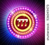 neon shiny vector logo for... | Shutterstock .eps vector #536045473