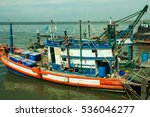 fishing boat is out fishing.... | Shutterstock . vector #536046277