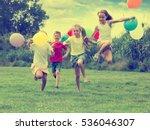 happy playful elementary school ... | Shutterstock . vector #536046307