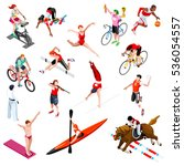 isometric athletic sport icon... | Shutterstock . vector #536054557