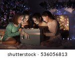 merry christmas  happy holidays ...   Shutterstock . vector #536056813