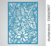 die cut card. laser cut vector... | Shutterstock .eps vector #536065807